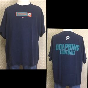 Nike Miami Dolphins Football Double Side T- Shirt